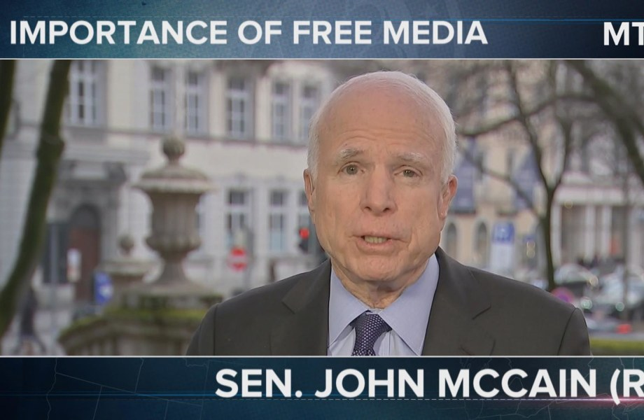 McCain Defends Adversarial Media: 'I Hate the Press'