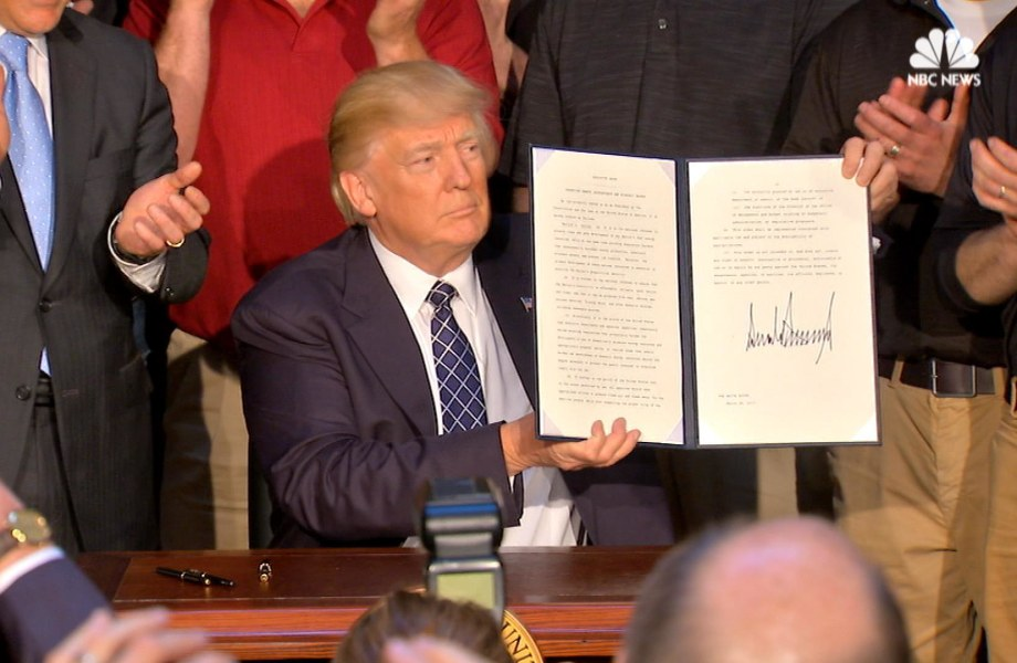 Trump Signs Executive Order Rolling Back Obama-Era Climate Change Policy
