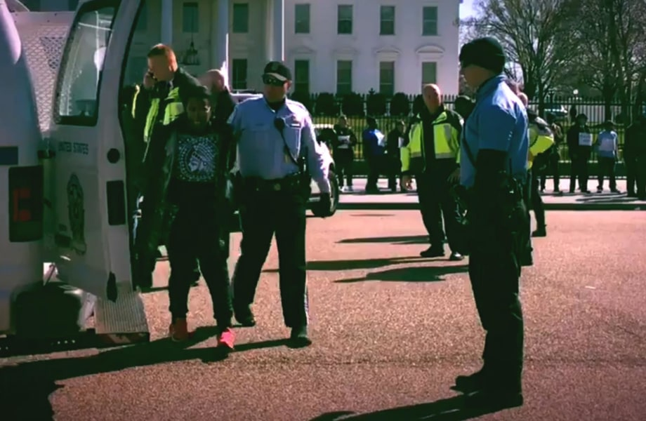 Dozens Arrested At Anti-Trump Rally Outside White House