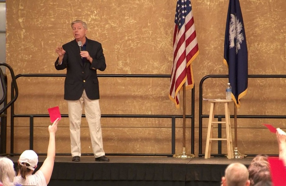 Sen. Lindsey Graham Faces Angry Constituents at Town Hall