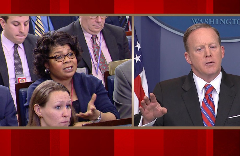 Spicer Tells April Ryan to Stop Shaking Her Head, Then She Reacts