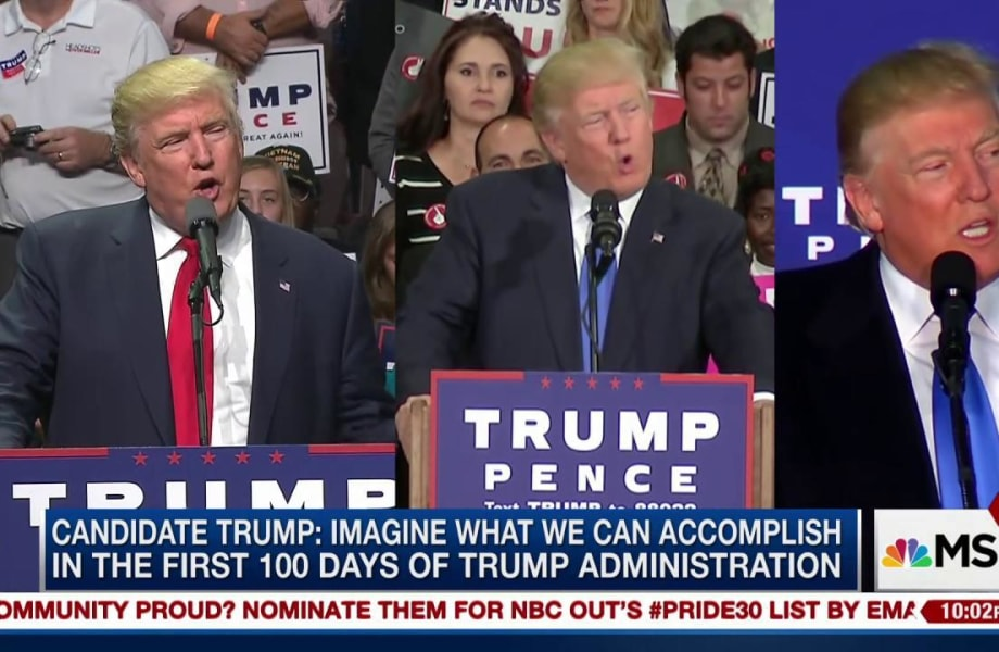 Candidate vs. President: Trump changes his tune on first 100 Days
