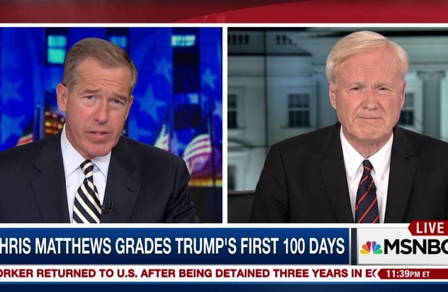 Chris Matthews on Trump's first 100 days: 'It's an F so far...'