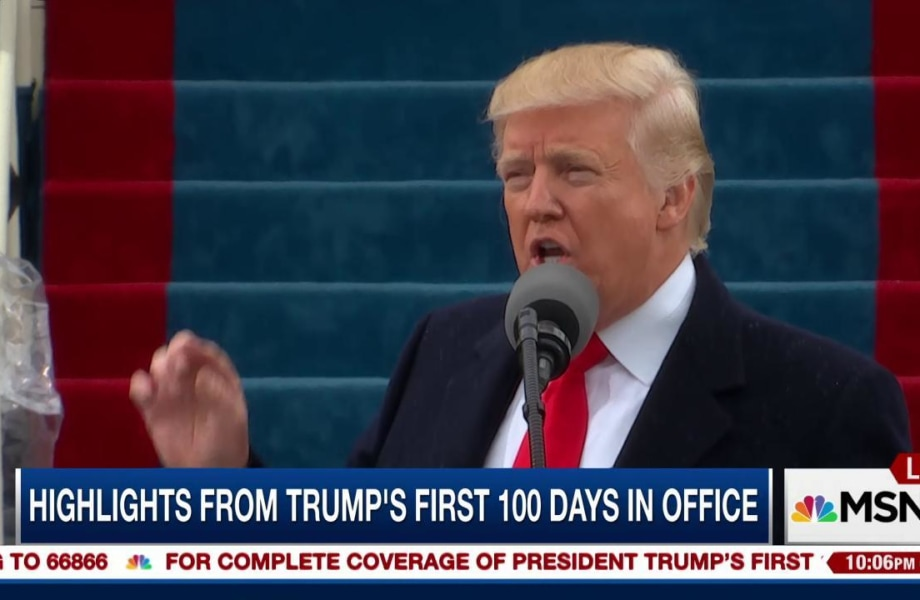A look back at Trump's first 99 days in office