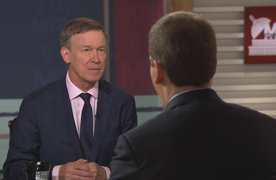 Full Interview: Hickenlooper Makes the Case for 'Large Tent' Democrats