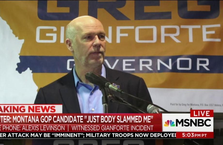 Reporter: Montana GOP candidate 'body slammed me'