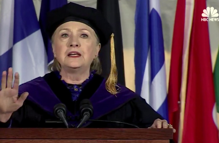 Clinton Alludes to Trump in Commencement Speech