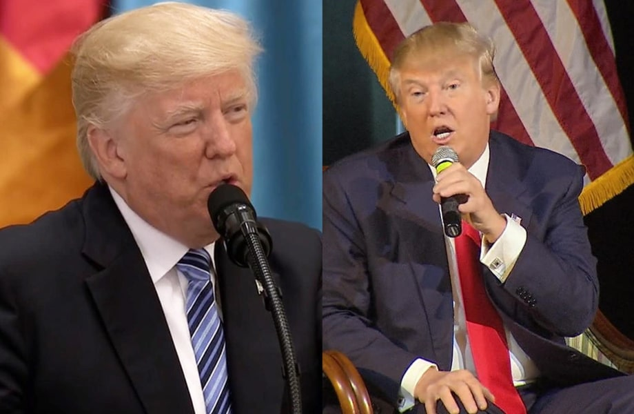 Trump on Muslims: Now and Then