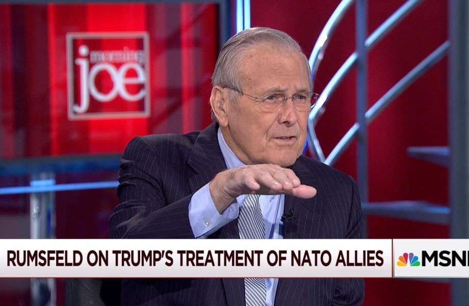 Donald Rumsfeld: 'cut Trump some slack'