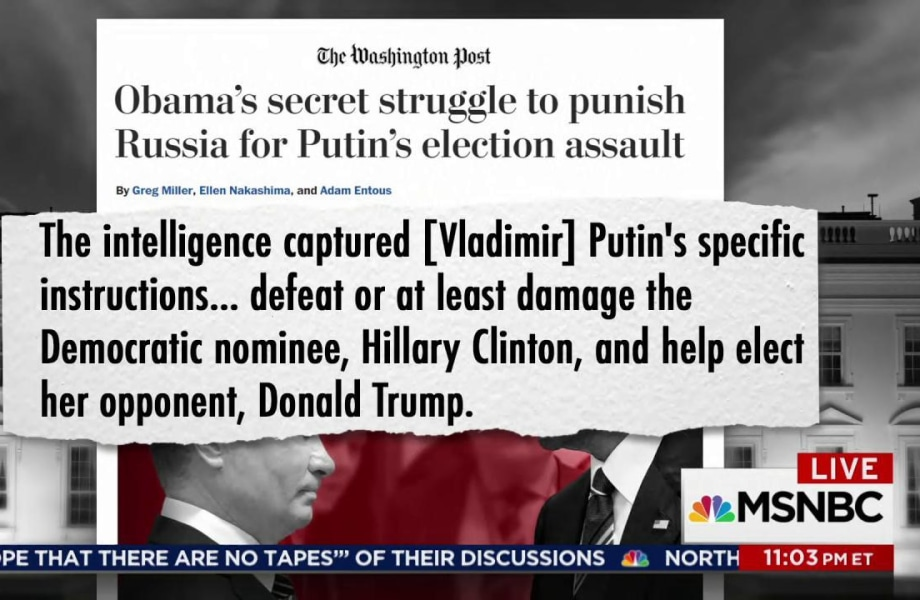 WaPost: Putin told hackers to hurt Clinton & help Trump