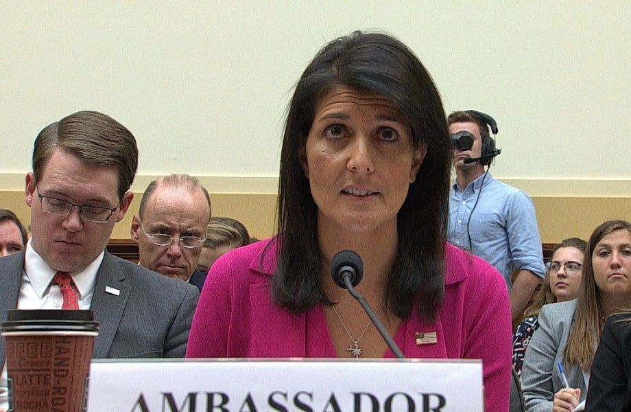 Haley: Trump's Warning to Syria Saved Many Innocent Lives