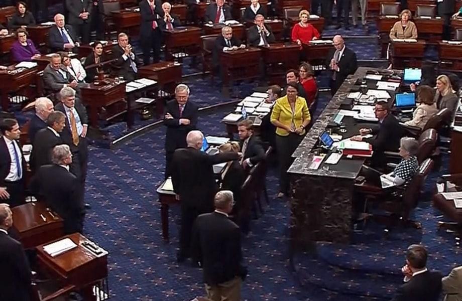 Watch Sen. John McCain Cast 'No' Vote on 'Skinny' Repeal