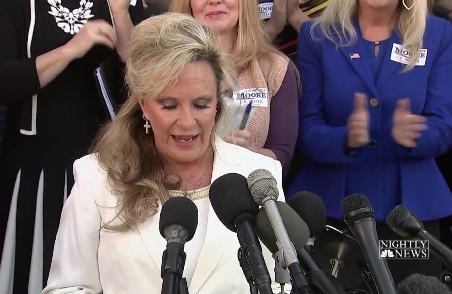Roy Moore's wife says he will not step down