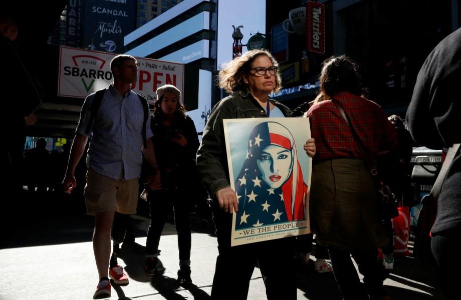 Despite Presidents Day, Protesters Give Trump No Respite