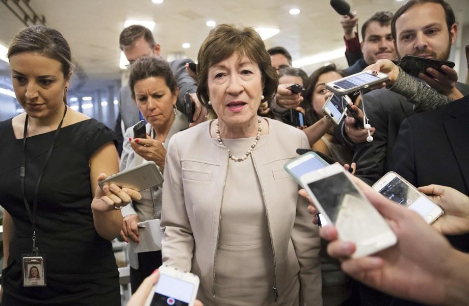 Sen. Susan Collins: Sexual misconduct allegations against Trump 'remain very disturbing'