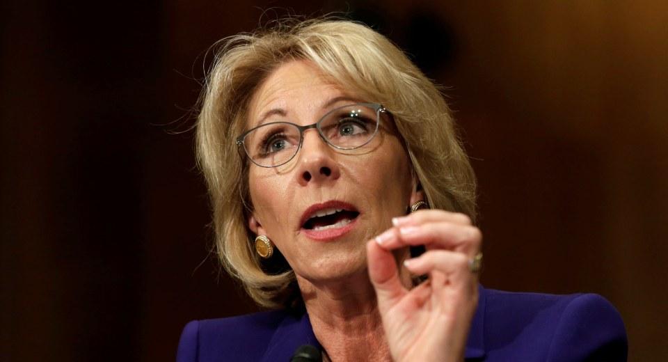 Betsy DeVos, Trump's Pick for Education Secretary, Won't Rule Out Defunding Public Schools