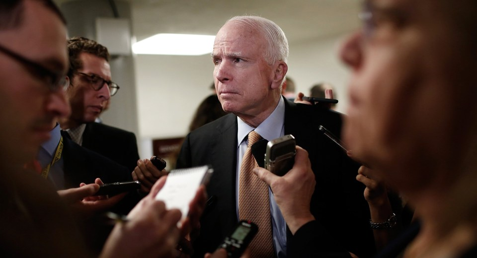 McCain Warns Suppressing Press 'Is How Dictators Get Started'