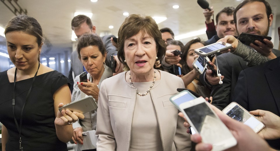 Sen. Susan Collins: Sexual misconduct allegations against Trump 'remain very disturbing'
