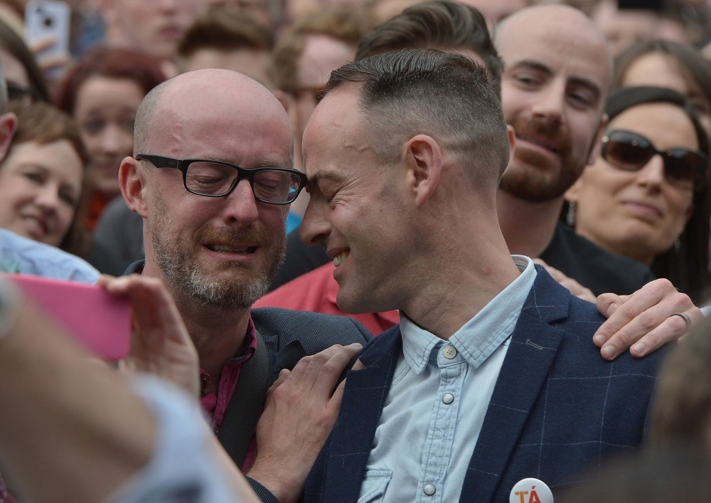 Ireland says yes to same sex marriage nbc news for Dublin gay mural