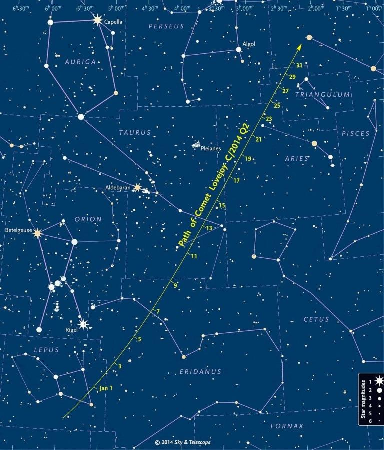 Image: Comet Lovejoy (C/2014 Q2) finder chart