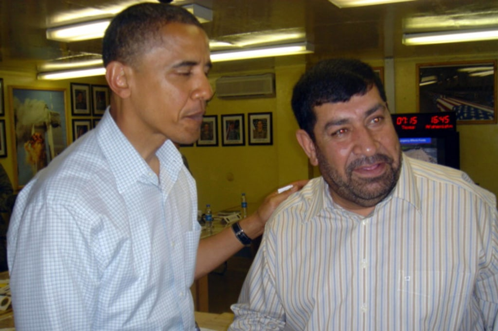Image: Barack Obama meets Gul Agha Sherzai in Jalalabad, Afghanistan, on July 19, 2008