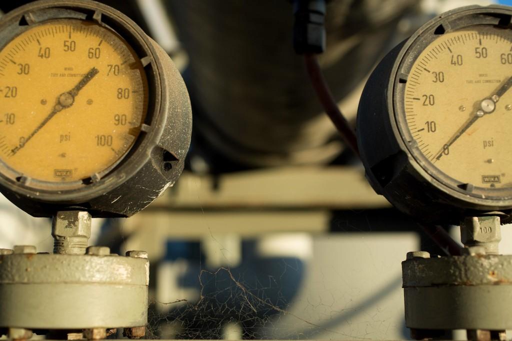 Image: Gauges remain idle at the Charles Meyer Desalination Facility in Santa Barbara, Calif.