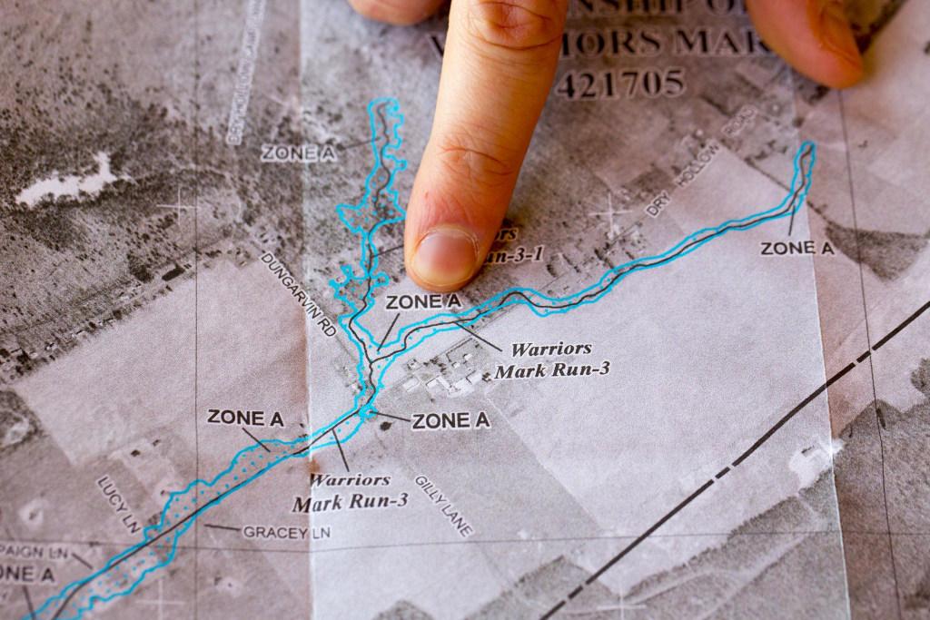 Image: A FEMA map of Warriors Mark, Pa.
