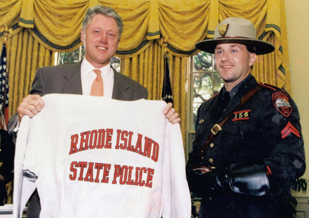 Image: Steven O'Donnell with Pres. Bill Clinton