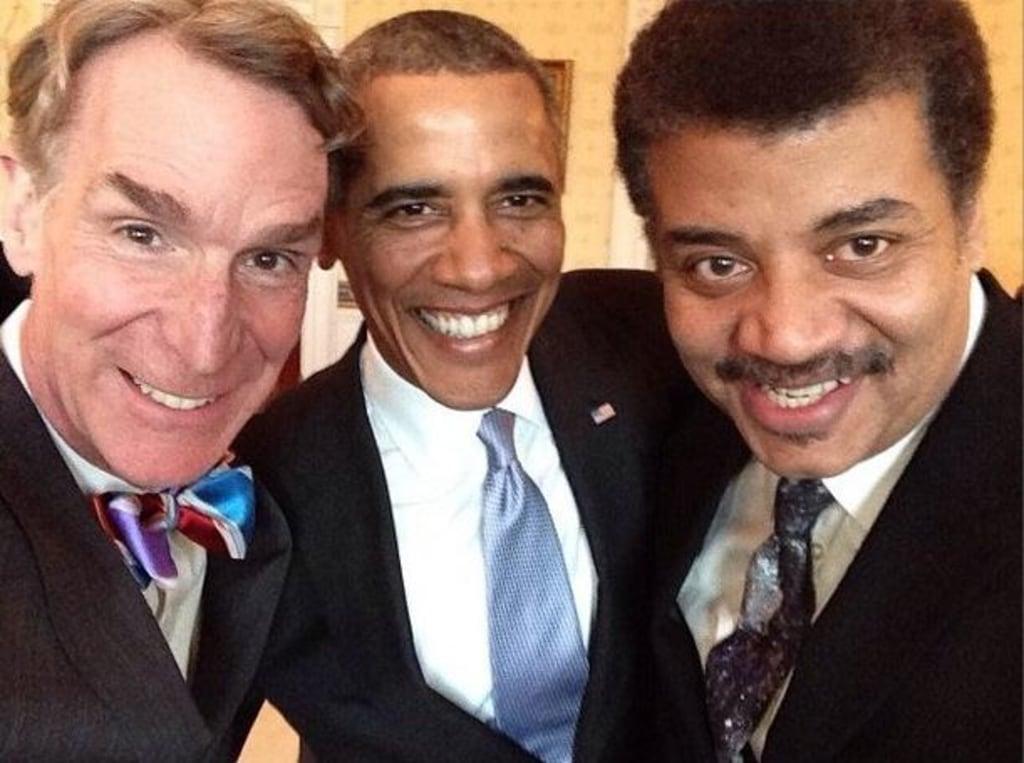 Image: Bill Nye, Barack Obama, Neil Tyson