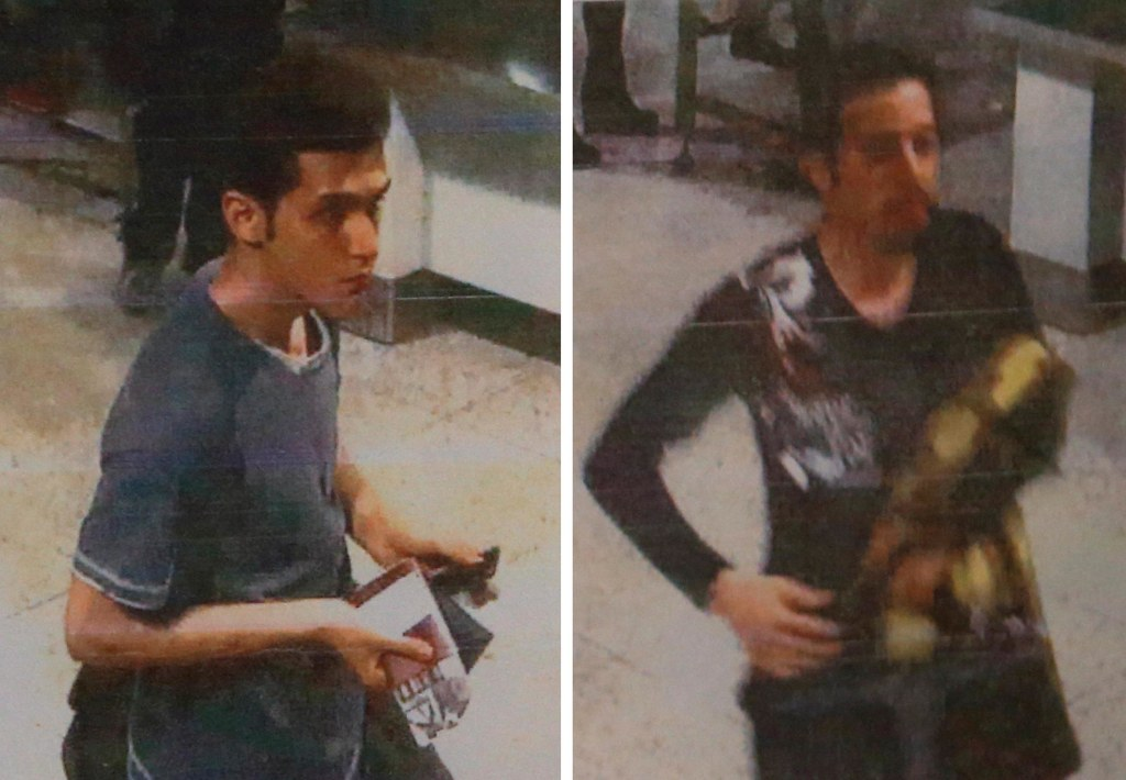 Image: A combination photo shows two men whom police said were travelling on stolen passports onboard the missing Malaysia Airlines MH370 plane, taken before their departure at Kuala Lumpur International Airport