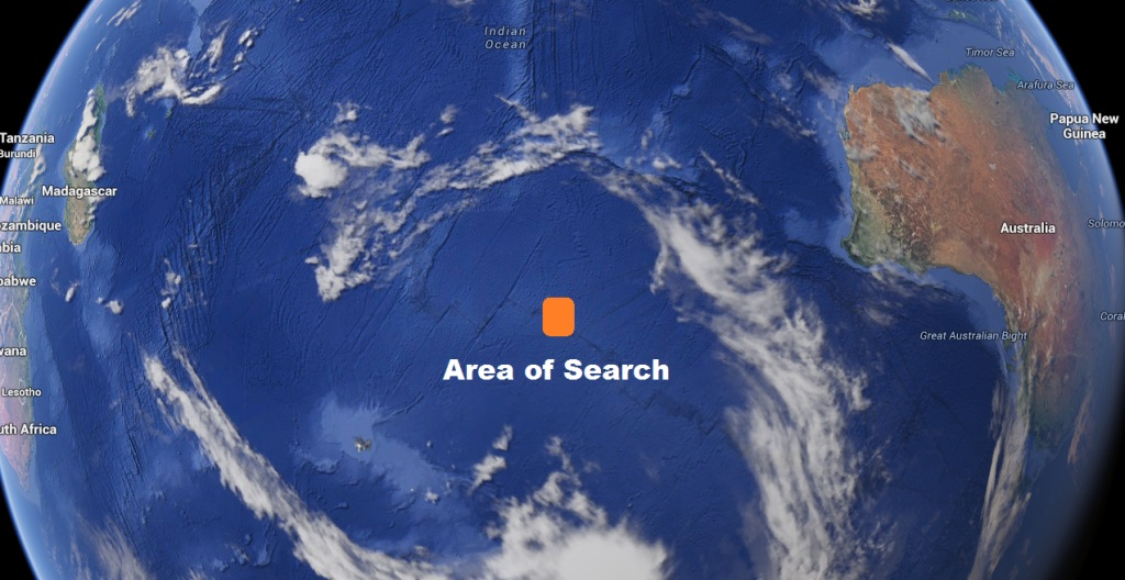 IMAGE: Sky map of search area