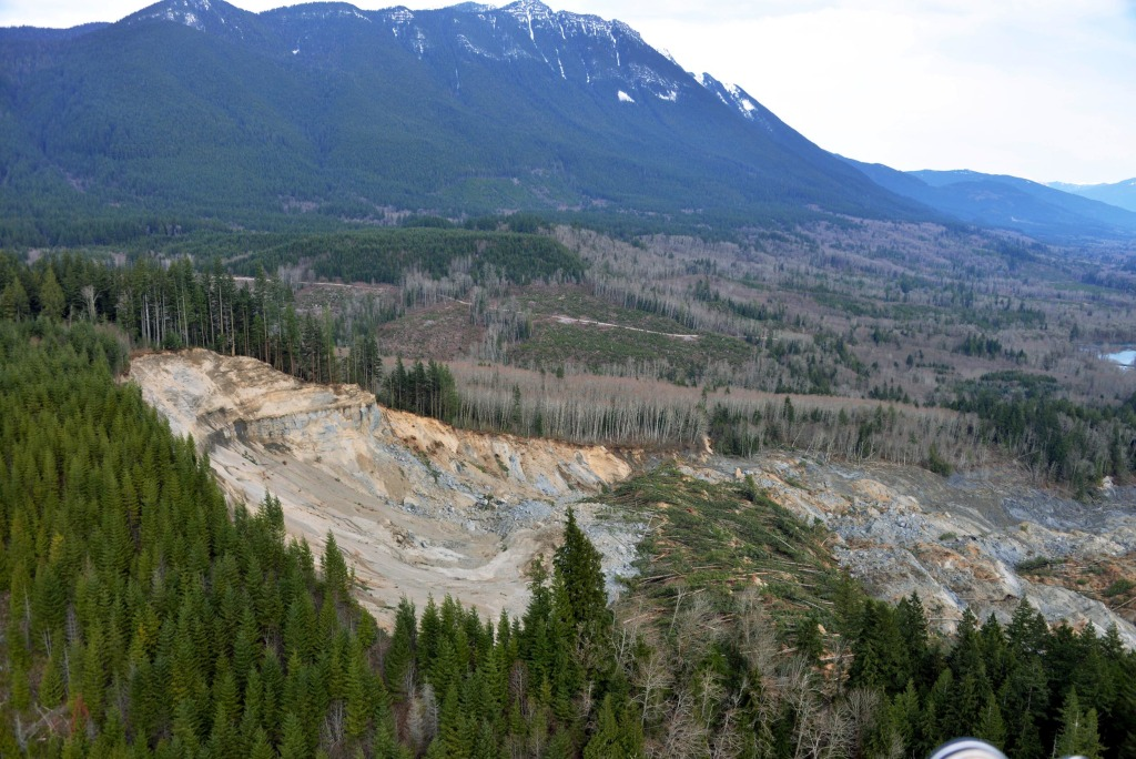 Image: U.S. Geological Survey show the extent and impacts from the March 22 mudslide