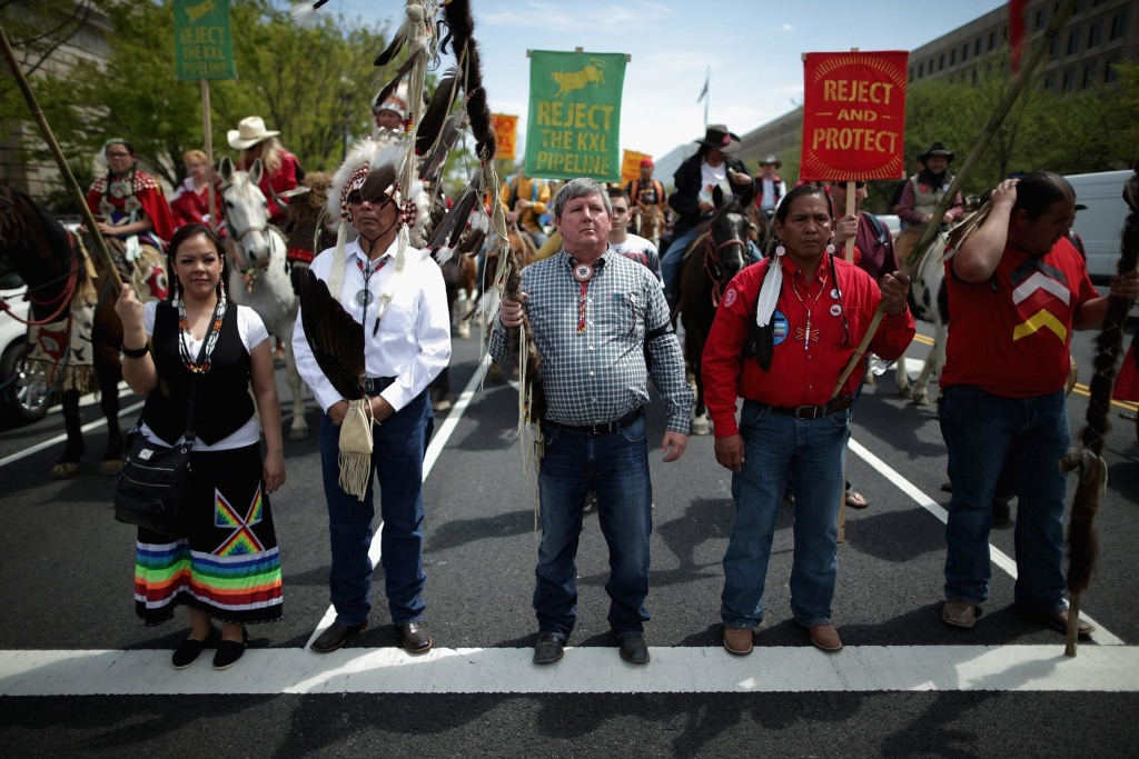 Image: The Cowboy And Indian Alliance Kicks Off Week Of Protests Against The Keystone XL Pipeline