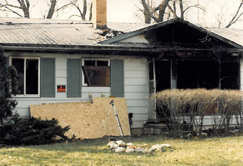 Image: The Gavitt home after the fire