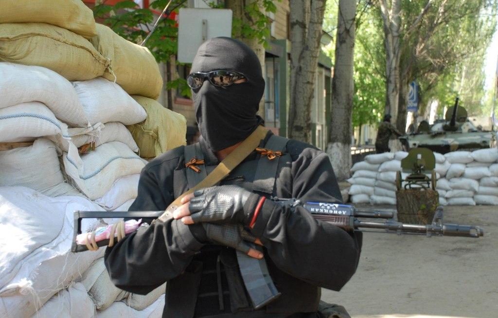 Image: Pro-Russian separatist in eastern Ukraine on Sunday