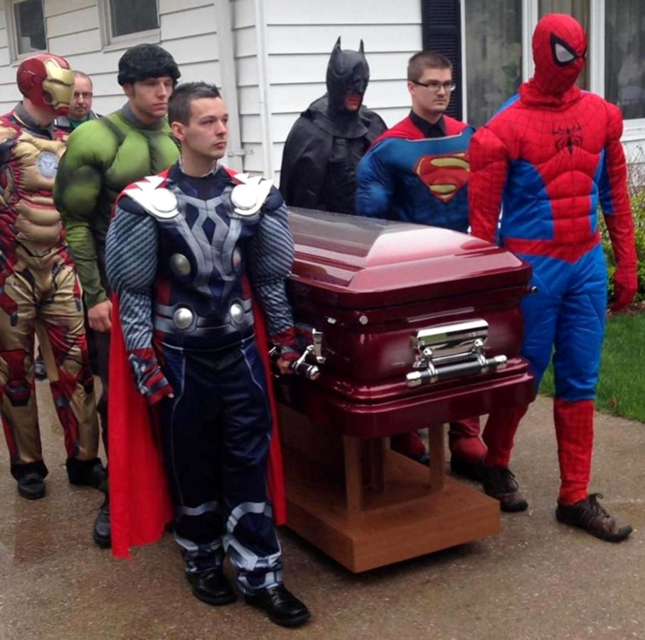 Image: Superhero funeral for 5-year-old brain cancer victim