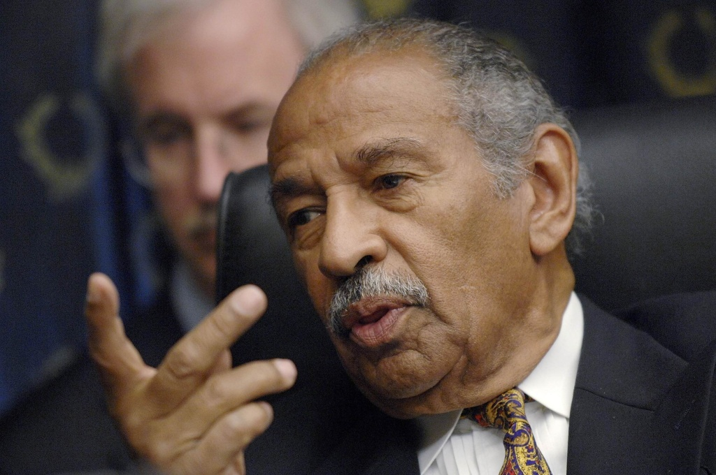 "Image: Conyers holds a House Judiciary Committee hearing on ""Executive Power and Its Constitutional Limitation"" on Capitol Hill in Washington"