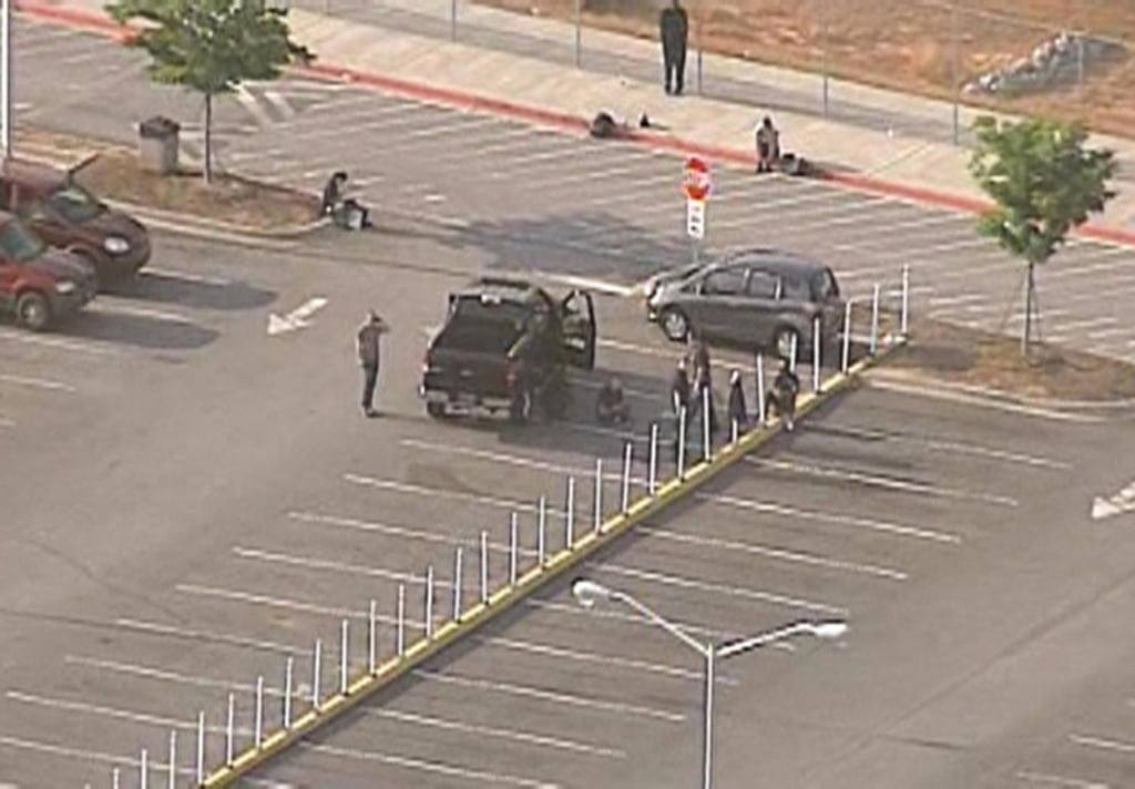 Image: The Spartanburg County Sheriff's office now confirms a 55 gallon drum in the BMW parking lot was not a bomb after being alerted to a suspicious package o