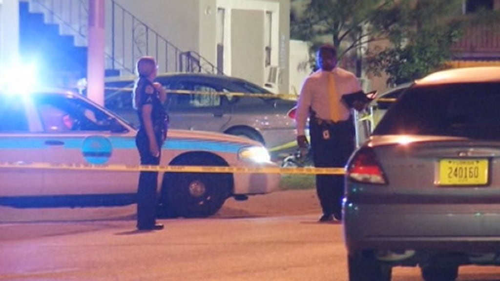 Image: Police respond after multiple people were shot in Miami on Tuesday, June 24, 2014.