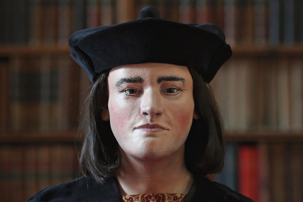 Image: A facial reconstruction of King Richard III.