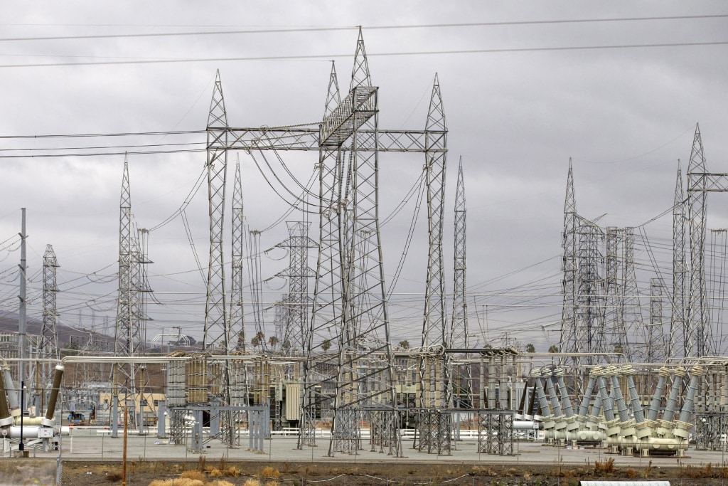 Image: Pacific Gas and Electric Company's Metcalf Power Substation near San Jose, Calif.