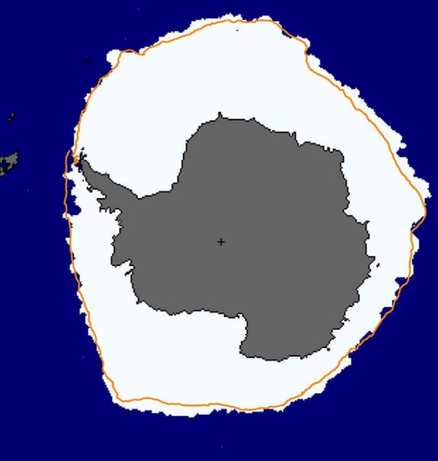 Image: Antarctic sea ice extent