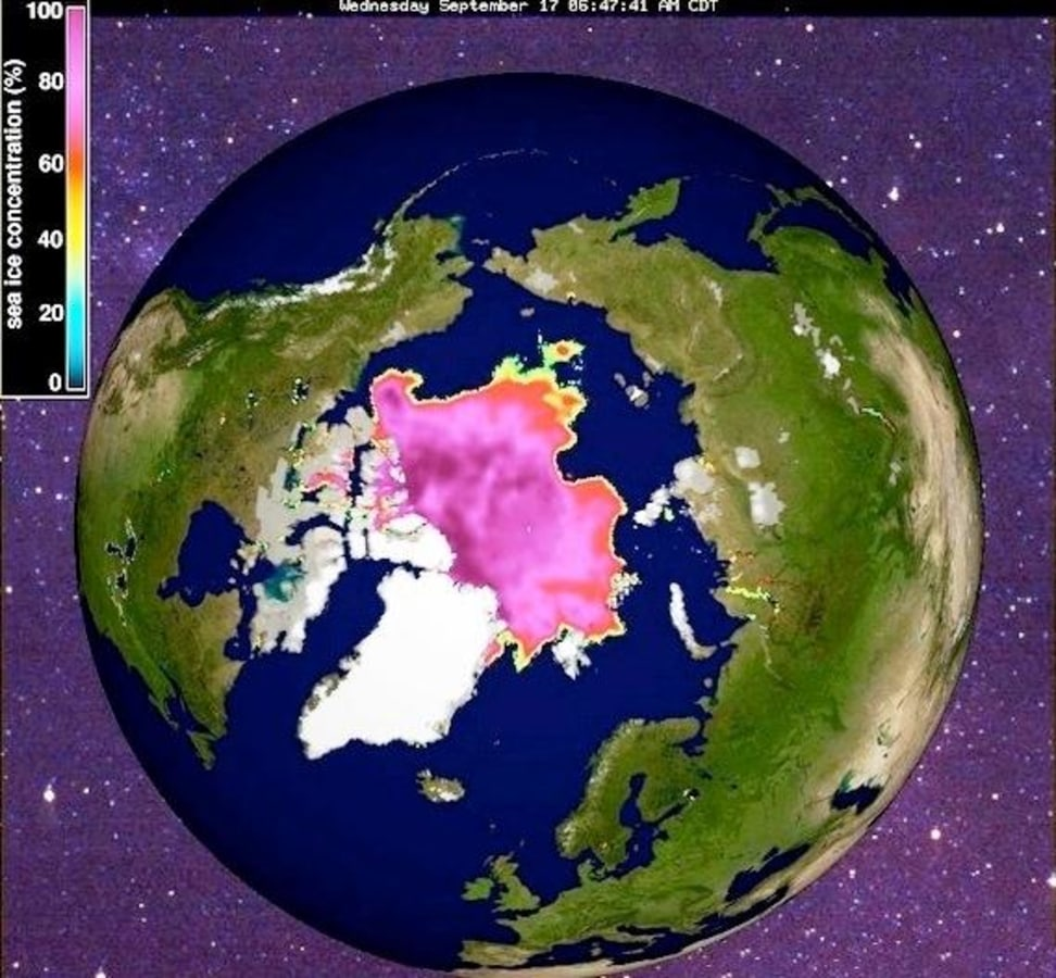 Image: Arctic sea ice concentration