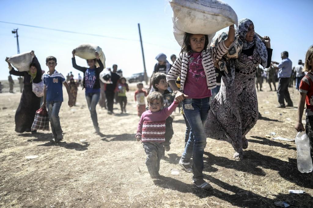 Image: TURKEY-SYRIA-KURDS-REFUGEES