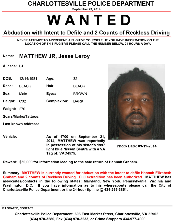 Image: A wanted poster for Matthew Jesse Leroy