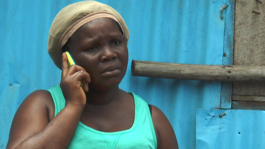 Image: Wife of man who died tearfully making a call.