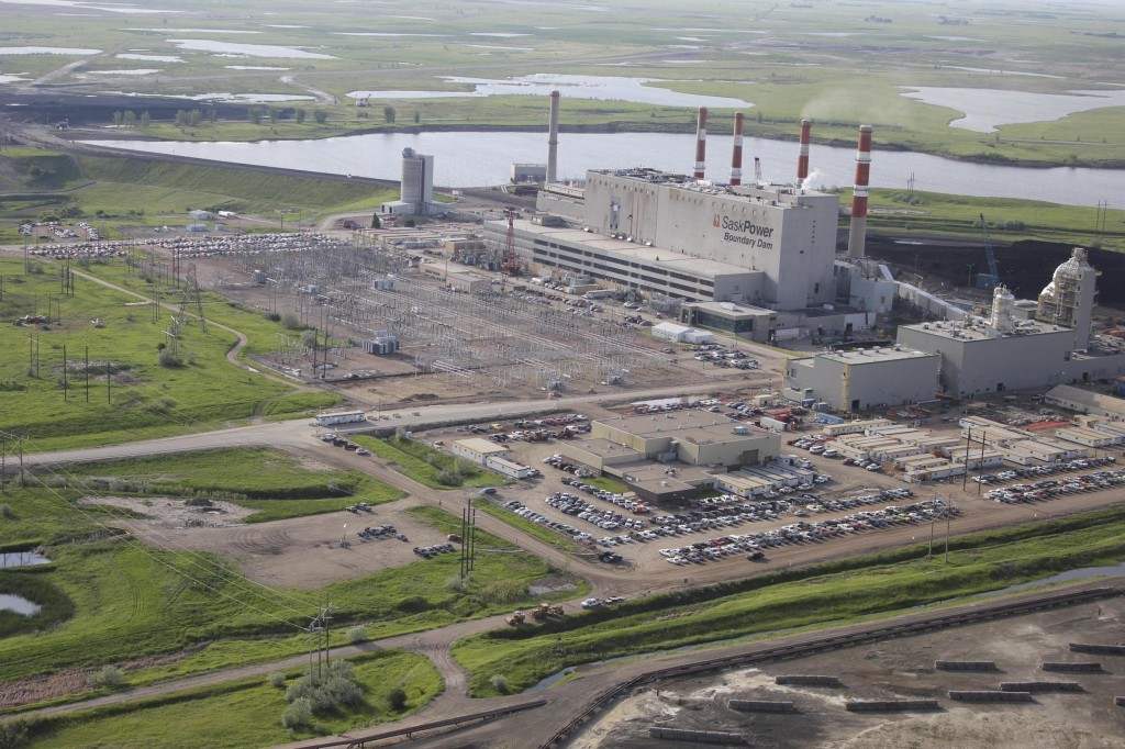 Image: Boundary Dam Power Station owned by SaskPower, near Estevan, Saskatchewan