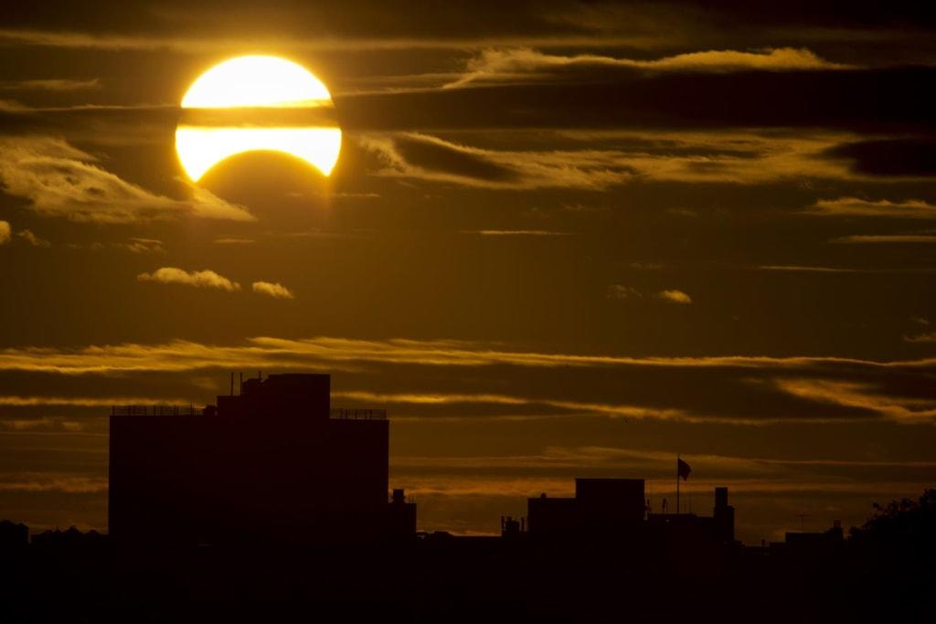 Image: Partial solar eclipse