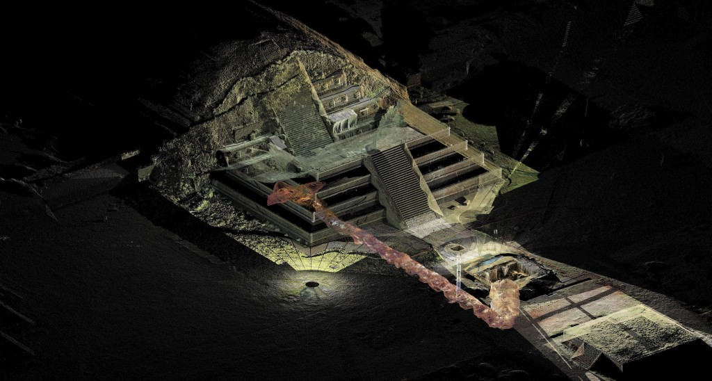 Image: Tunnel discovered under pyramid in Teotihucan archaeological site