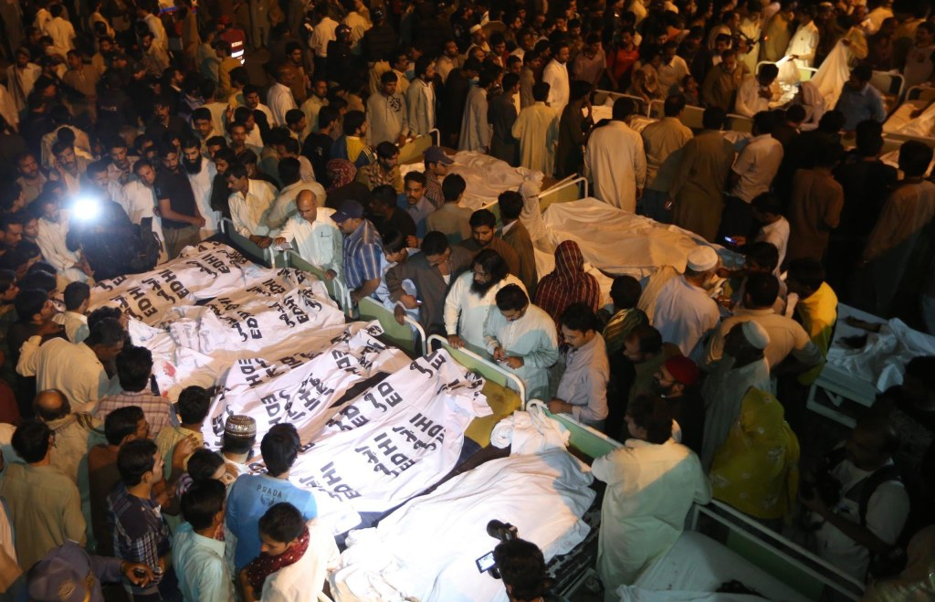 Image: Suicide bomb attack killed at least 45 people in Lahore